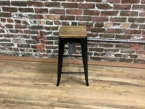 Stool Metal Legs and Wood Top