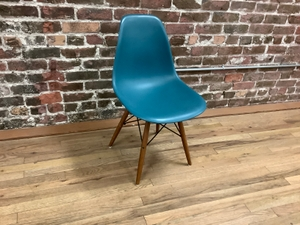 Chair Plastic Shell With Wood Legs